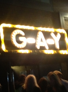 The flashing beacon of debauchery that is G-A-Y Late