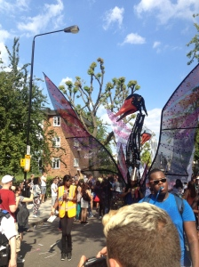 The beginning of the Notting Hill Carnival parade.