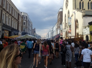 Hordes of people roamed the streets, drinking and gallivanting around the place for the Notting Hill Carnival.