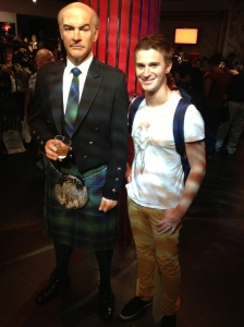 Sean in his finest Scottish attire - a photo must.