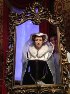 A cheeky photobomb with Mary, Queen of Scots.