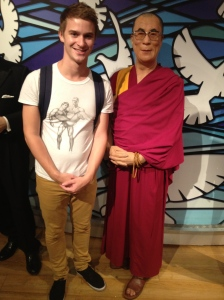 All smiles with the Dalai Lama.