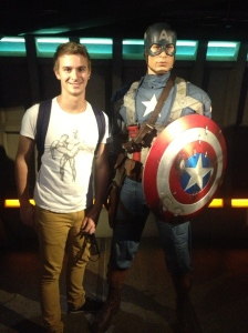 Saving the world with Captain America.