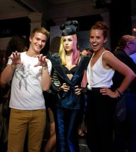 Both Ellie and I with Gaga - paws up!