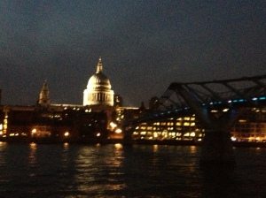 St Paul's Cathedral and Millennium Bridge.