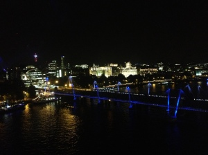 Millennium Bridge as seen from the London Eye.