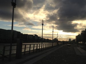 Sunset by the River Liffey.