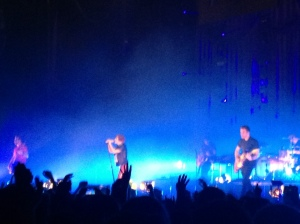 Paramore playing live in Dublin.