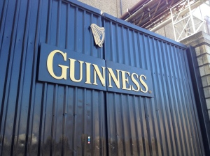 Outside the Guinness factory.