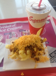 The delicious, fast food goodness I ordered from Supermac's.
