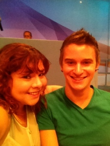 Melissa and I at the filming of The Katie Show.