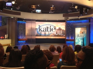 The set of the show before filming started - for obvious reasons, cameras had to be put away during recording.