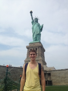 Myself with the Statue of Liberty.