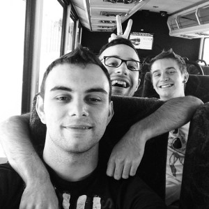 Walter, Mischa and I on the bus to Six Flags (filter courtesy of Walters Instagram)