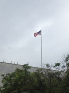 The US Flag atop the Library of Congress.