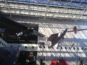 The halls of the museum were full of air and spacecraft dangling from the ceiling.
