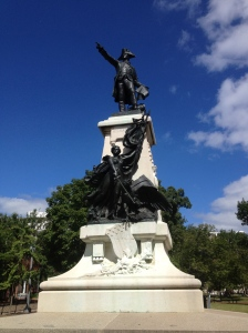 Statue of Comte de Rochambeau of France, one of the sculptures in Lafayette Square, the park that lies directly north of the White House.