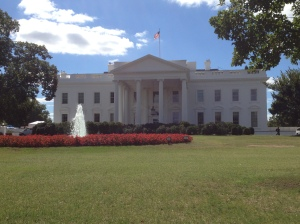 Front view of the White House.