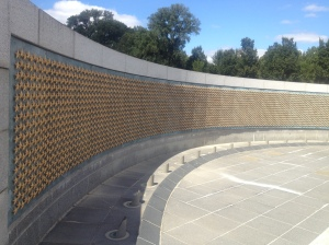 The never ending sea of stars that represent the dead and missing on The Wall of Freedom.
