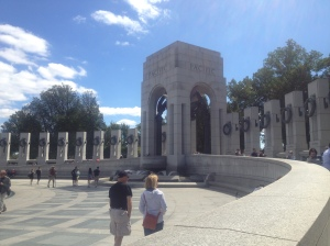The arches and the pillars of the memorial.