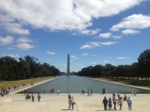 ... and the view of the Reflecting Pool and the Washington Monument from the top.