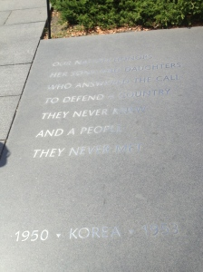 Inscription at the front of the memorial.