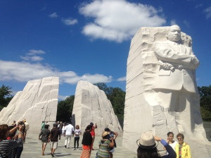 The memorial was created as a visual representation of some of his most empowering words.