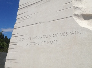The words of Martin Luther King Jr. that inspired the design of his own memorial.