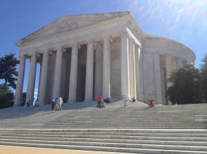 The Thomas Jefferson Memorial.