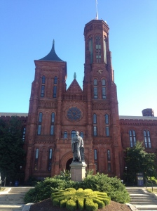 The main Smithsonian Institution building on the National Mall.
