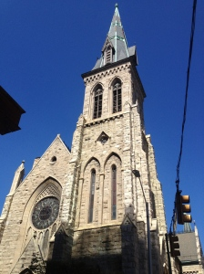 A church on the streets of Baltimore.