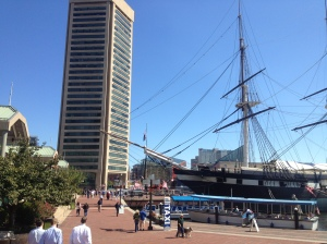 Inner Harbour - the USS Constellation and the World Trade Center Institute.