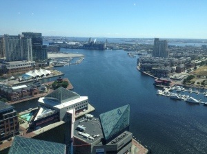 The view from 'The Top of the World' in the Baltimore World Trade Center.