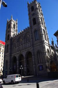 The Notre Dame Basilica of Montreal.