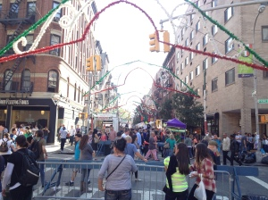 The festival stretches on for dozens of blocks, with road closures so it could open up into one huge event.