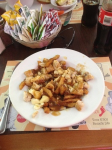 The disgustingly delicious poutine.