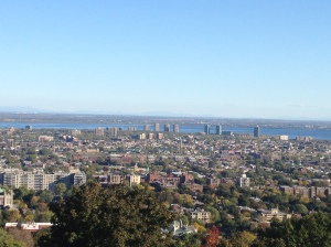 View of Montreal from Mont Royal.