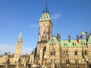 The Canadian Parliament Building.
