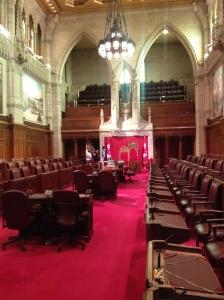 The Senate chambers.