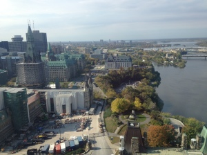 From the top of the tower on the top of The Hill, you could see almost all of Ottawa and off into the horizon.