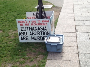"A ""pro-life"" sign."