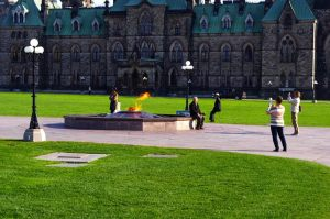 The Centennial Flame.