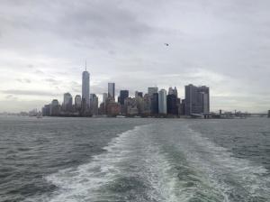 Manhattan in the horizon.