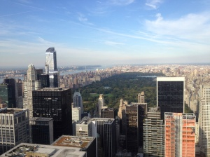 Central Park and northern Manhattan, as seen from the Top of the Rock.