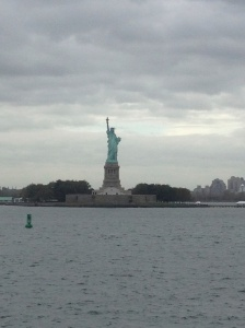 Statue of Liberty as seen from the ferry.