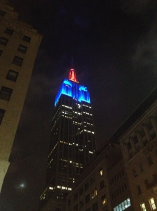 The Empire State Building at night, as Ralf and I headed out for a night of dancing.