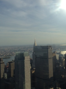 However, here's a tip: Top of the Rock doesn't actually offer such a good view of the Chrysler Building.