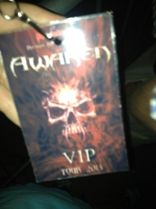 My VIP pass, courtesy of one very persuasive father.