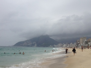 Clouds rolling in over Ipanema.