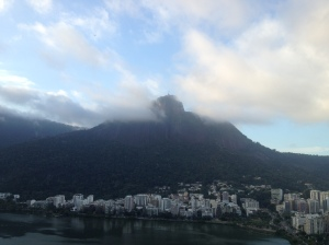 Christ the Redeemer on his lonely peak.